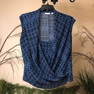 New York and Company blouse tank top layered